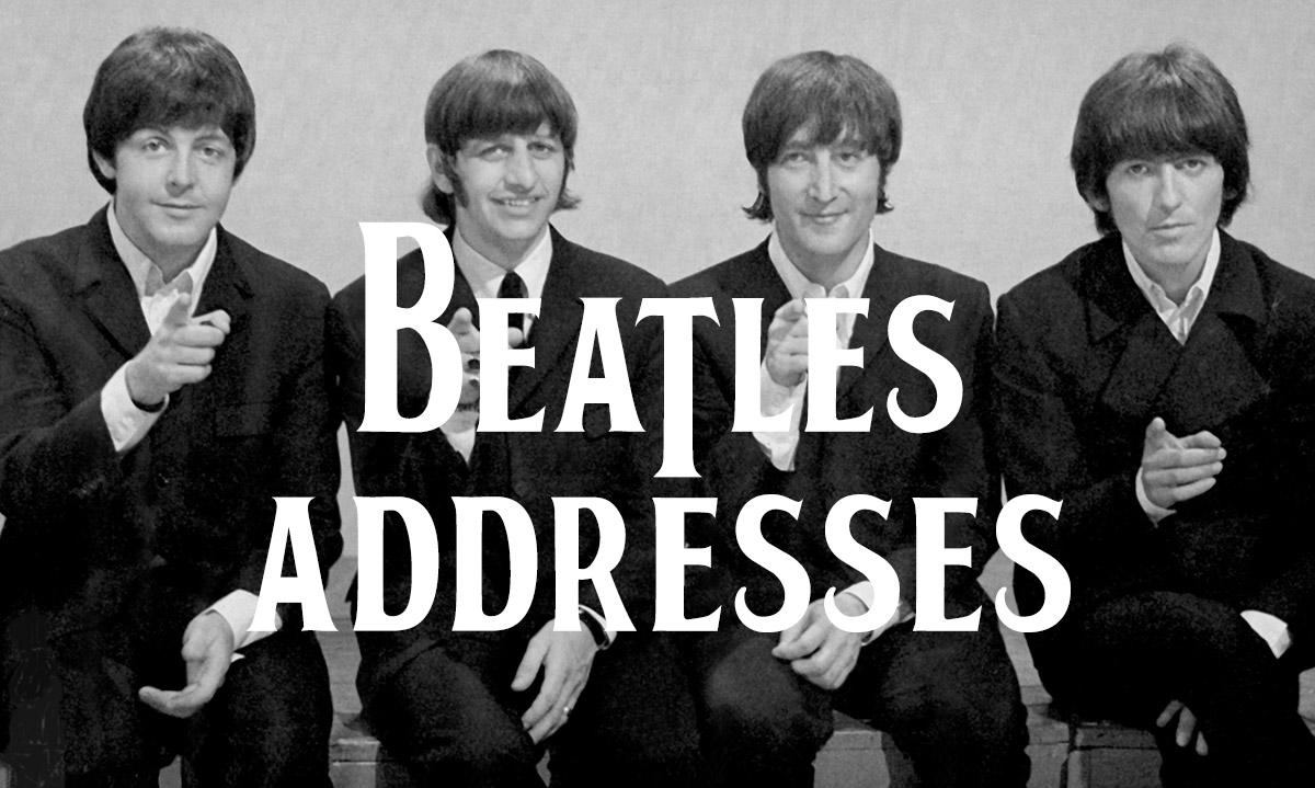 Beatles Addresses Liverpool Wedding