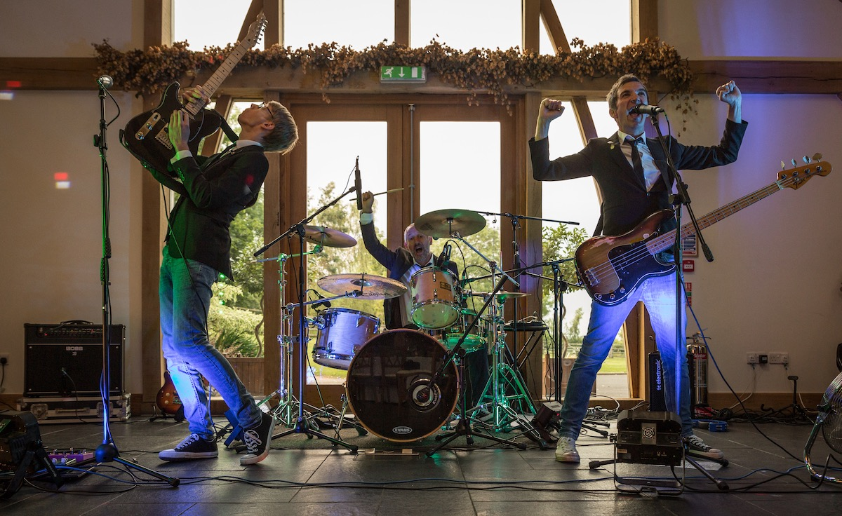 Live Band At A Wedding Reception