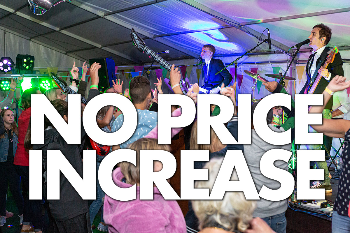Live Party Band No Price Increase