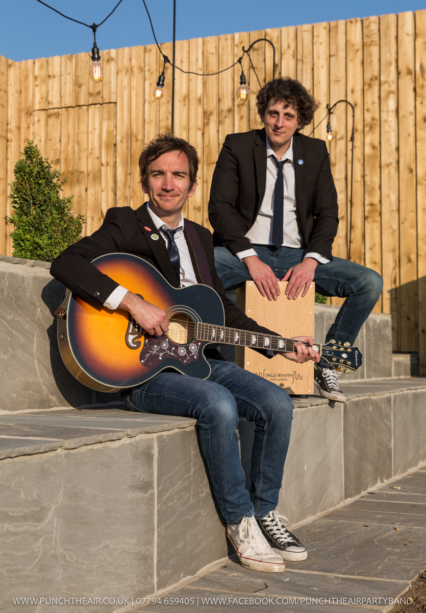 Acoustic Duo Wedding Band Cajon