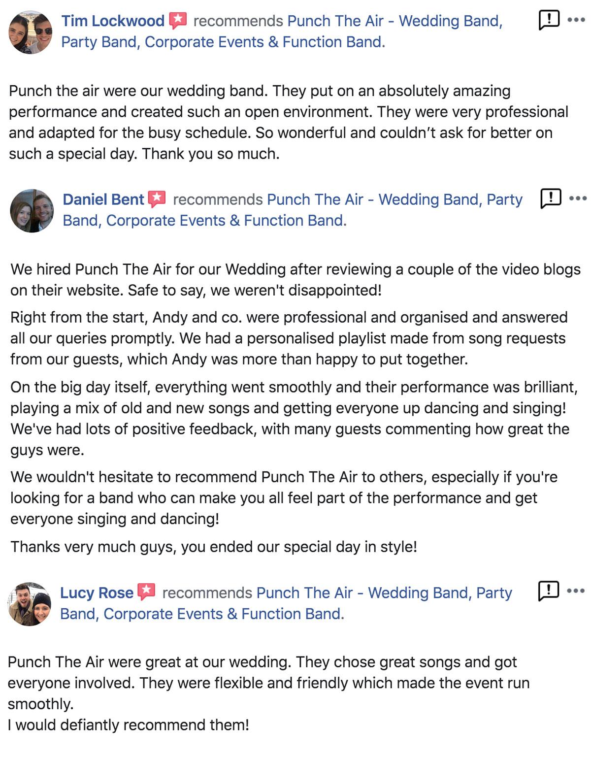 Indie Music Wedding Band