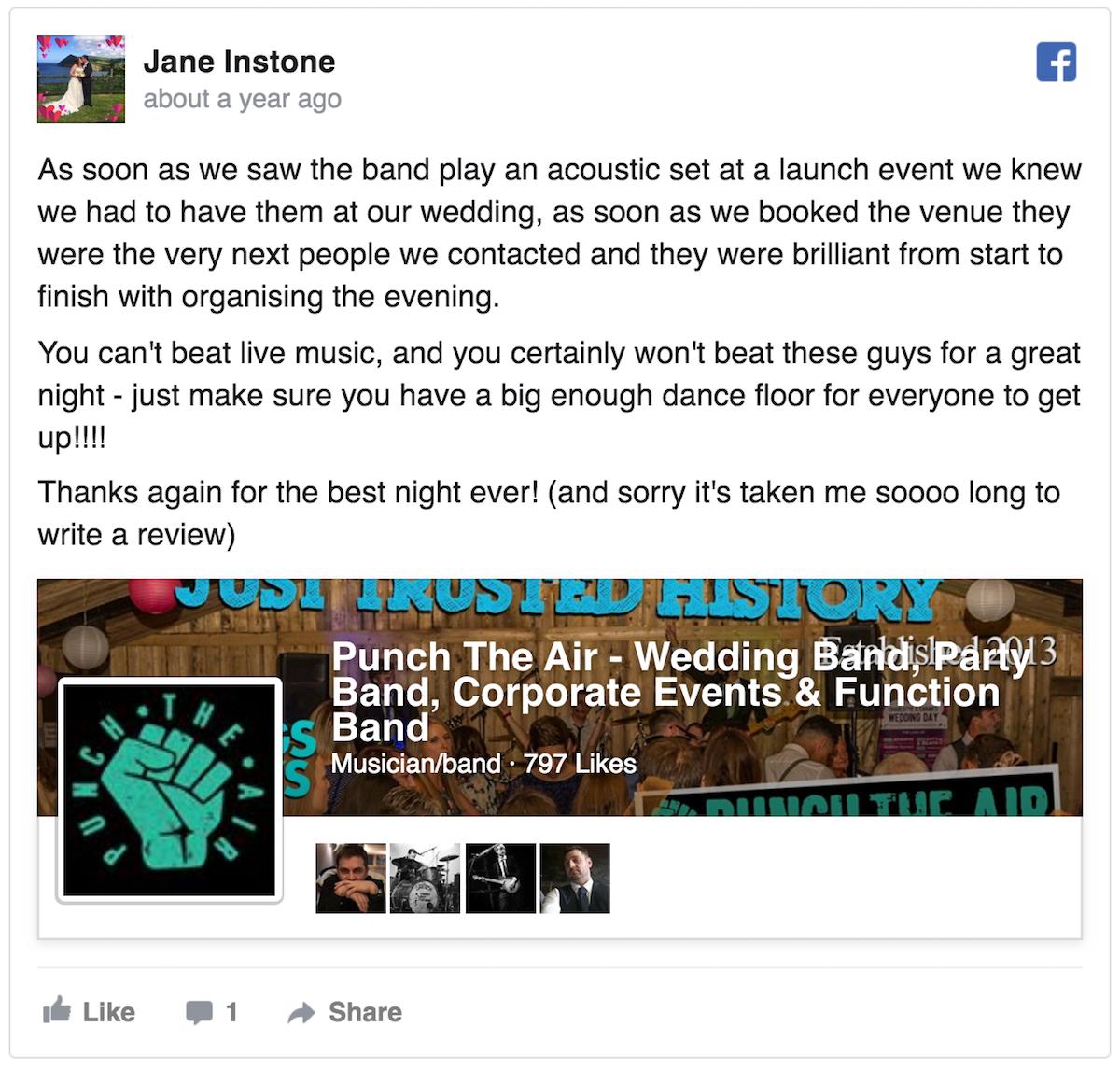 Ludlow Shropshire Wedding Band