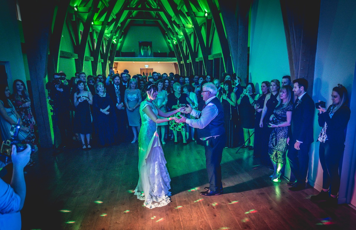 Bride & Father Dance at Mill Barns Bridgnorth