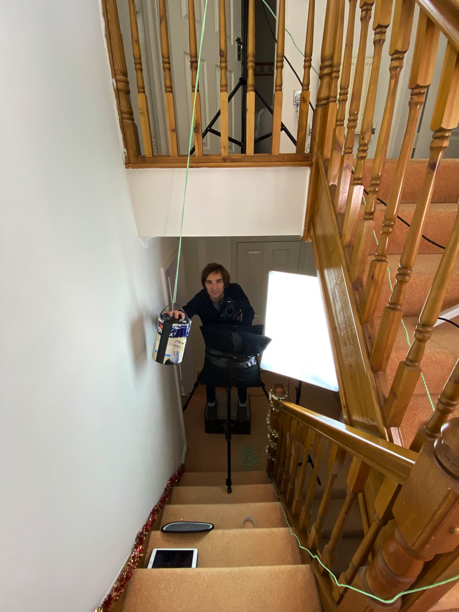 Home Alone Parody Paint Cans Stairs